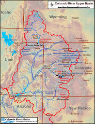 Colorado rivers images Colorado river map with states jpg