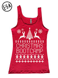ugly christmas sweater workout tank fitted enlightenedstate