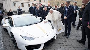lamborghini aventador dragon edition purple the pope has a shiny new gold rimmed lamborghini huracan