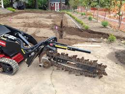 french drain has anyone here ever rented a trencher what was