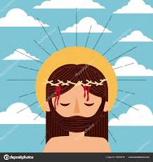imagenes de jesucristo animado dibujos animados de jesucristo con el cielo de nubes corona espinas