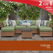 tuscan 7 piece outdoor wicker patio furniture set 07a intended for