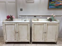 Freestanding Kitchen Furniture Pair Of Pine Painted Cream Sideboard Freestanding Kitchen Unit