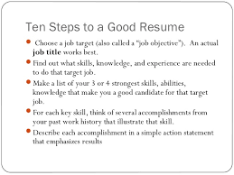 resume writing ppt presentation