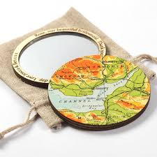 Map Location Personalised Map Location Compact Pocket Mirror For Her By Bombus