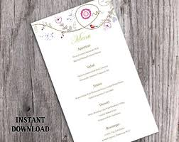 the 25 best diy menu cards template ideas on pinterest diy