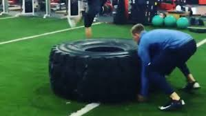 Bench Press 1000 Lbs J J Watt Flips A 1 000 Pound Truck Tire U201430 Times Stack