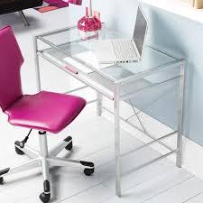 Small Metal Computer Desk Brilliant Small Glass Top Computer Desk Charming Home Design