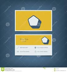 Home Design Business Cards Modern Flat Design Business Card Template Graphic Stock Vector