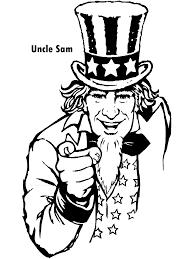 uncle sam coloring page patriotic activities pinterest