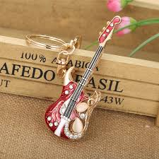crystal key rings images Guitar keychains crystal key ring key chains for christmas gift jpg
