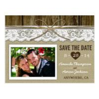 Wedding Postcards Burlap Wedding Invitations Vintage Rustic Wedding Invitations