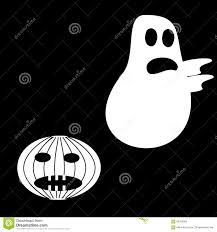 funny ghost halloween scary pumpkin fright stock vector image