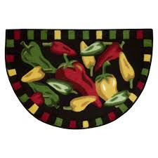 Chili Pepper Home Decor Whole Home 30 X20 Chili Peppers Kitchen Slice Rug Shop Your Way