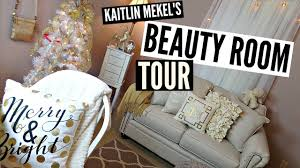 Black White And Gold Home Decor by Beauty Room Tour White Gold U0026 Black 2015 Youtube