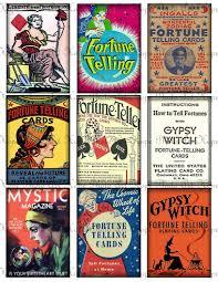 vintage fortune teller gypsy handmade cards pinterest