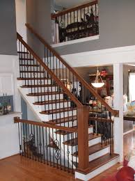 Replacing A Banister And Spindles Stairway Update Iron Spindle Replacement Solid Wood Treads New