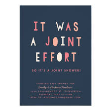baby shower for couples joint effort s baby shower invitation navy zazzle