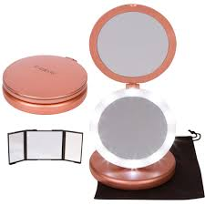 iluminate folding makeup mirror lighted vanity mirror with small