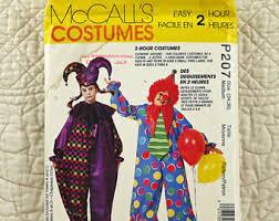 Court Jester Halloween Costume Jester Pattern Etsy