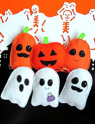 easy halloween decorations u2013 felt pumpkin and ghost sewing pattern