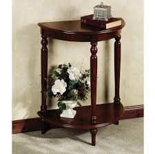 furniture dark wood entryway table and half moon foyer tables
