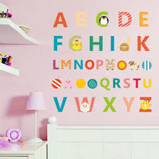compare prices on 3d sticker alphabet online shopping buy low cartoon cute animal chick bear english alphabet wall stickers kids room nursery bedroom home decor