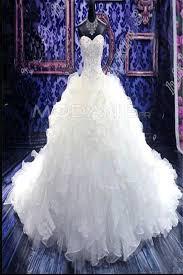 robe de mari e magnifique magnifique robe de mariée princesse organza dentelle frou frou
