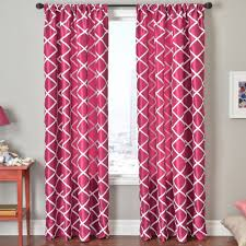 Pink Trellis Curtains Window Treatments Curtains And Drapes For And Awesome