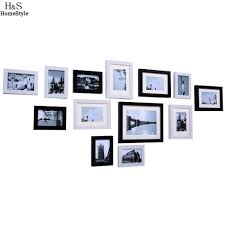 popular wooden wall frame buy cheap wooden wall frame lots from modern diy home decor wooden wall hanging display picture photo frames set 13 pcs set