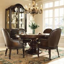 dining room table leather chairs 14402