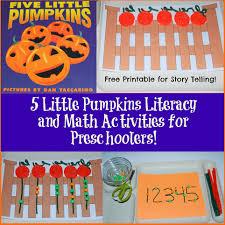 Printable Pumpkin Books For Preschoolers by 5 Little Pumpkins Literacy And Math Activities For Preschoolers