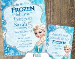frozen custom invite etsy
