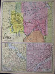 Map Of St Paul Mn Prints Old U0026 Rare St Paul U0026 Minneapolis Mn Antique Maps U0026 Prints