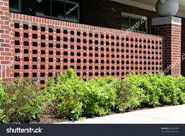 decorative brick wall ornamental plesant stock photo 52552408