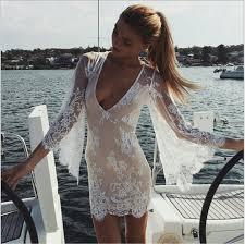 shop 2015 new beach white transparent dress women aliexpress