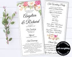 tea length wedding programs wedding program templates archives chryssa wedding
