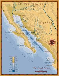 map of mexico and california map of the sea of cortez showing baja california and the sonoran