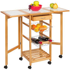 drop leaf kitchen island cart best choice products portable folding tile top drop leaf kitchen