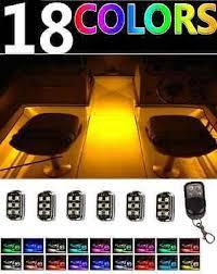 pontoon boat led light kits boat parts wireless control led boat deck marine lights kit