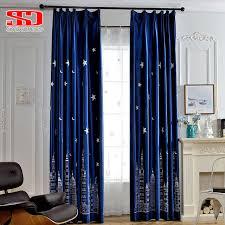 bedroom window curtains stars luxury velvet blackout curtains for living room moon kids