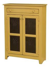 Amish Kitchen Furniture Large Pine Wood Pie Safe With Tin Doors