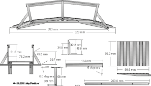 wooden bridge plans scale model a very versatile and scaleable bridge design for spans
