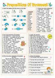 prepositions of movement worksheet free esl printable worksheets