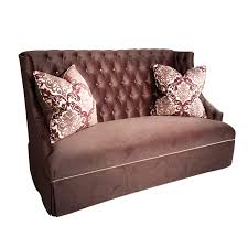 high back sofa high back sofa plum damask velvet fabric haute house home