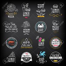 buffet menu restaurant design all you can eat royalty free