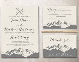 mountain wedding invitations printable wedding invitation mountain silhouette nature