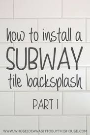 Subway Tile Backsplash Kitchen by How To Install Subway Tile Backsplash Using Mini Tile Sheets From