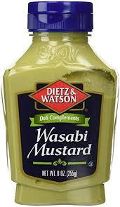 wasabi mustard dietz watson deli compliments wasabi mustard 9oz