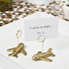 table top place card holders airplane design placecard or photo holders place card wedding